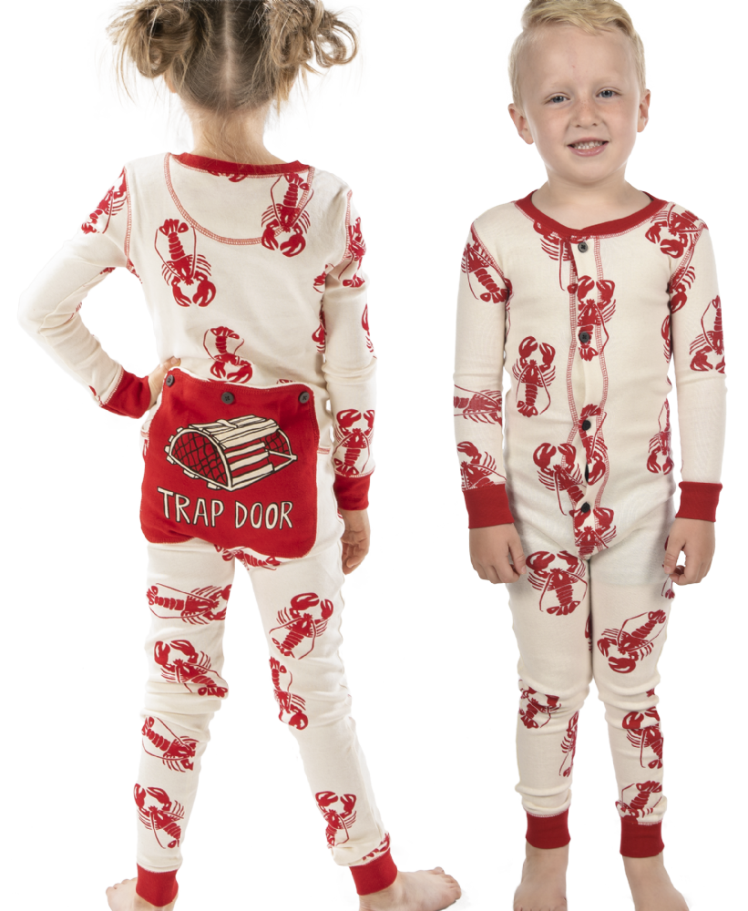 Trap Door Lobster Flapjacks - Kids Onesie Pyjamas - LazyOne®